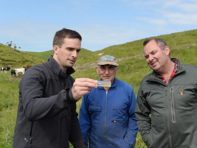 hitestone Cheese head cheese-maker Chris Moran, Ardgowan farmer Allister Calder and Whitestone...