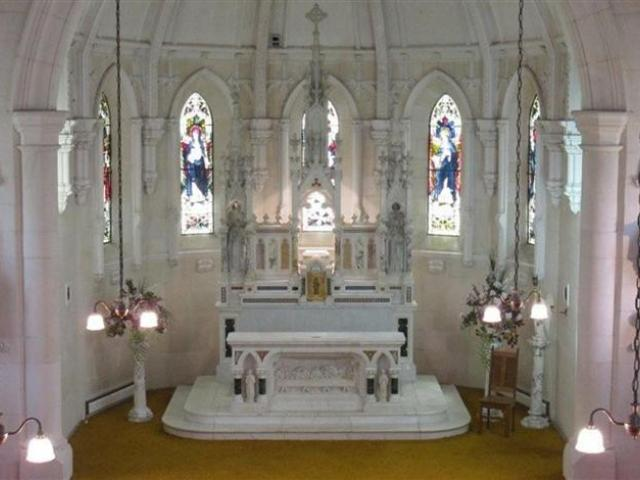 The altar in the chapel  at Teschemakers. Photo supplied.