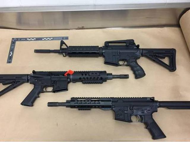 Police found four AR15 firearms and more than 400 rounds of ammunition. Photo / NZ Police