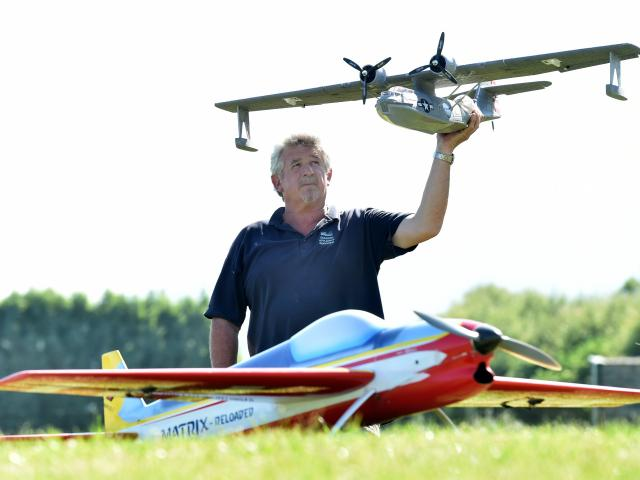 If in wet weather Dunedin Model Aero Club president Jeff Smart cannot fly his normal plane, he...