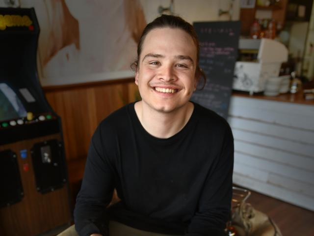 Elliot Phillips (22) is from Queenstown and works at Wolf at the Door in Dunedin. Photo: Gregor...