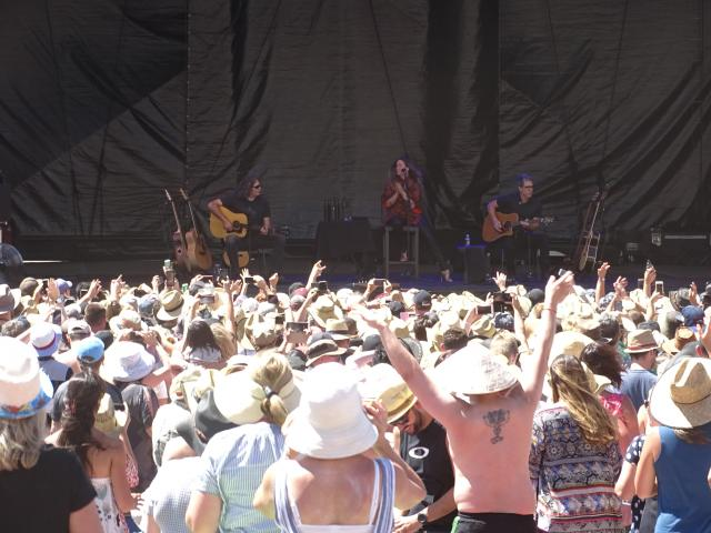 Canadian Alanis Morisette proved popular at the annual Gibbston Summer Concert on Saturday. Photo...