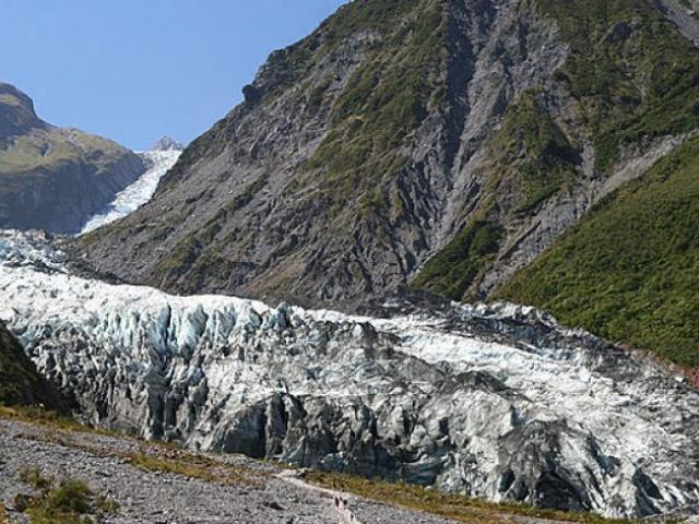 The access road to view Fox Glacier remains closed, five weeks after Cyclone Fehi washed it out....