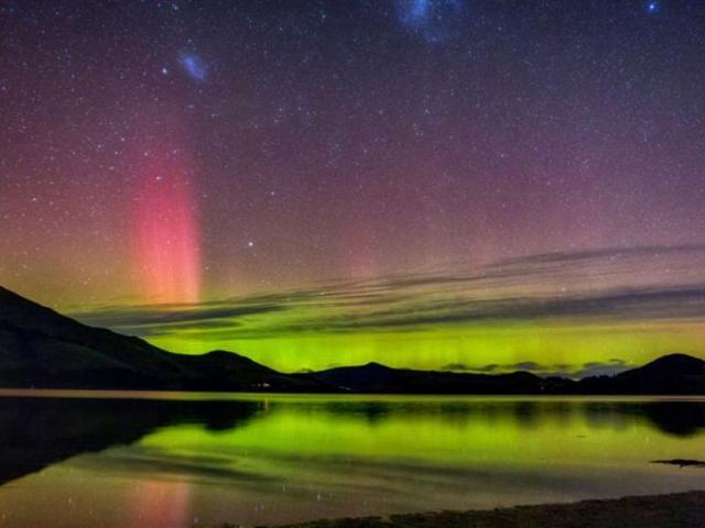 An aurora as seen from Papanui Inlet.Photo: Ian Griffin.