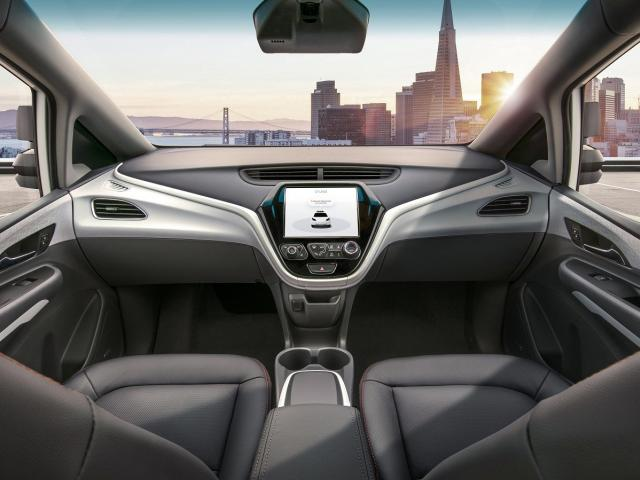 The General Motors Cruise AV has no driver, steering wheel or pedals. Photo: Supplied