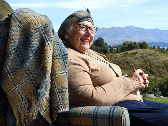 Shona Johnstone with products from her Southern Lakes Tartan range. PHOTO: STEPHEN JAQUIERY