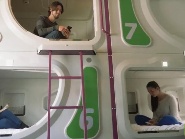 """Rooms accommodate eight travellers in a """"bunk room"""" style configuration. Photo: YouTube"""
