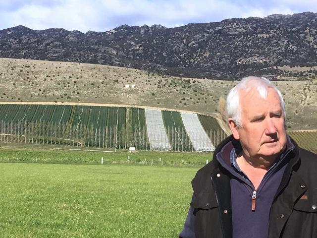John Perriam outlines what irrigation has meant for Bendigo Station, near Tarras. Photos: Sally Rae