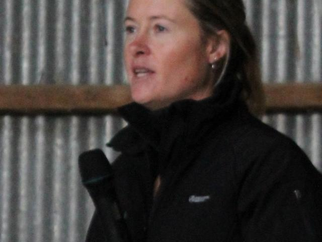 Southland-Otago Dairy Manager of the Year Jaime McCrostie talks at the recent regional field day...