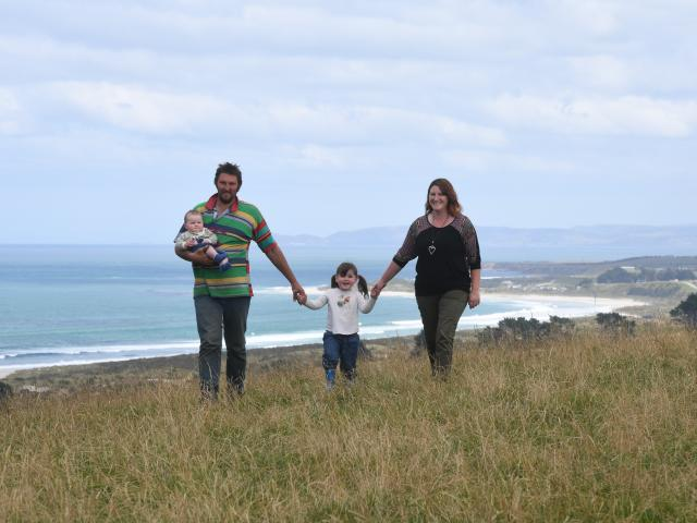 Otago Federated Farmers president Simon Davies pictured last year with his wife Joanna and...