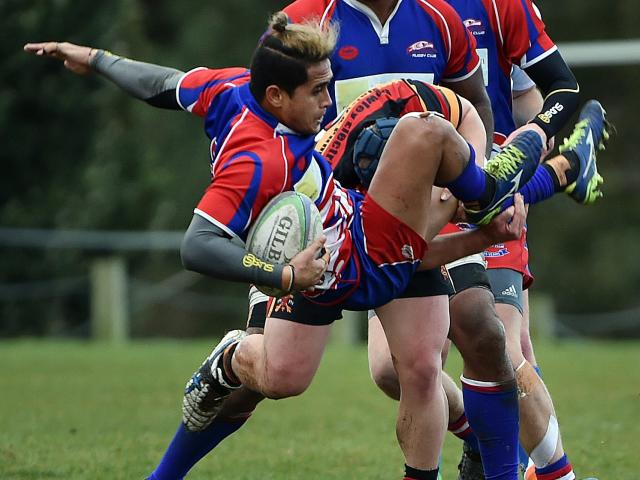 Harbour's Melani Matavao is tackled during its game against Zingari-Richmond on Saturday. Photo:...