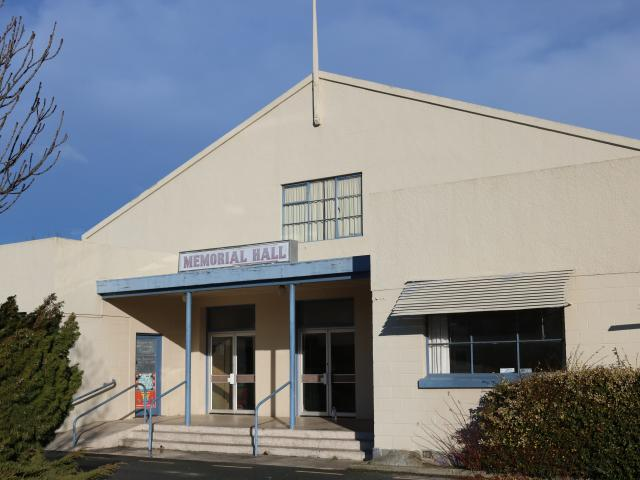 A new report says the Cromwell Memorial Hall is on the highest earthquake risk grade. Photo: Tom...