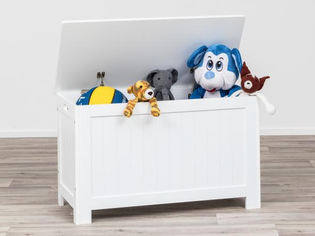 The storage chest is ideal for kids' rooms.