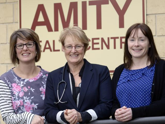 The team behind Amity Medical Centre, Dunedin's first Health Care Home (from left) practice nurse...