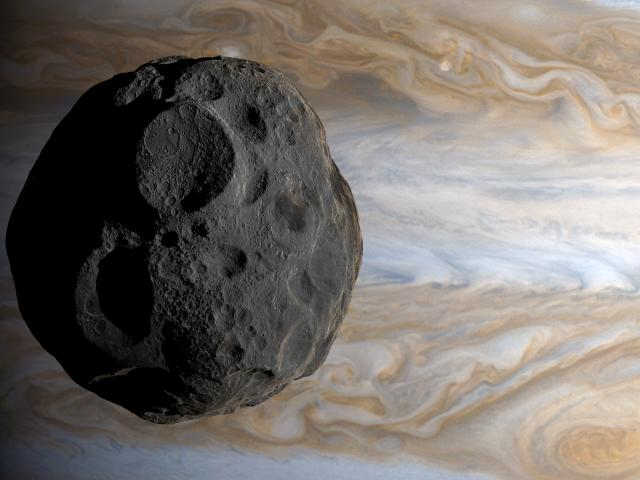 Amalthea is a moon of Jupiter, the third closest to the planet. Photo: Getty Images