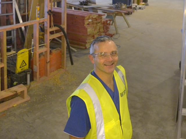 ICU charge nurse manager Shayne Wylie in what will soon be his new workplace, the intensive care...