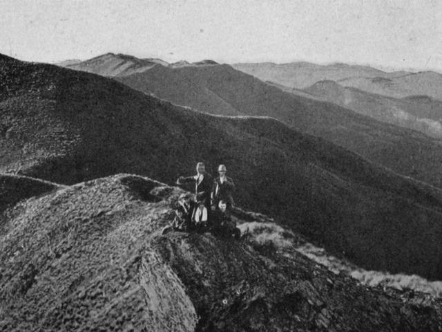 The view from the Pulpit Rock, Silverpeaks, looking north. — Otago Witness, 17.7.1918.