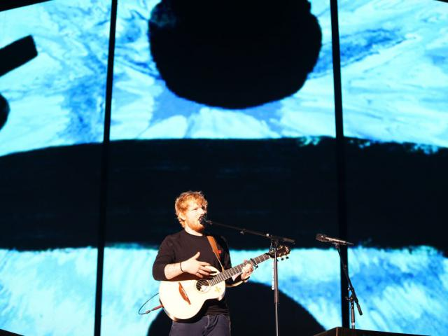 Ed Sheeran performs on stage at Mt Smart Stadium on March 24, 2018 in Auckland. Photo: Getty Images