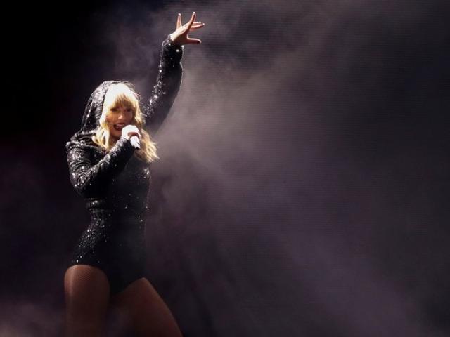 Singer Taylor Swift performs during her reputation stadium Tour at Wembley Stadium in London....
