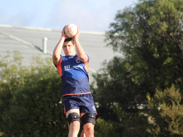 Rookie Southland Stags lock Ben Fotheringham during a lineout training session in Invercargill...