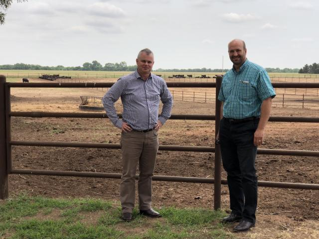 Dr Jason Archer, from AbacusBio, and Dr Steve Miller from the American Angus Association at an...