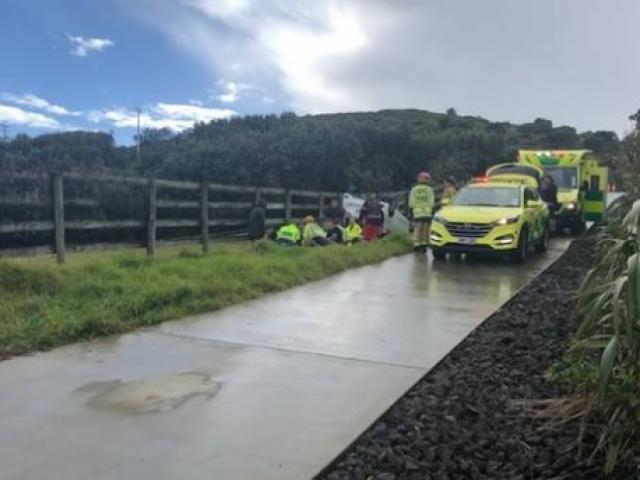A man who died in Muriwai earlier today was crushed by a car he was trying to push after it had...