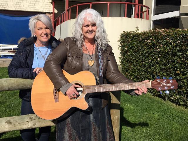 Country Music Dunedin Awards president Sharyn Anderton (left), of North Taieri, and secretary...