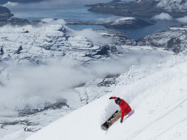 Wanaka's Mike Handford  makes the most of the conditions on Treble Cone earlier this week. Photo:...
