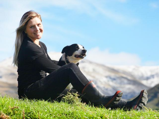 Laura Douglas and her trusty companion Lad, whom she describes as her 2IC. Photo: Mike White...