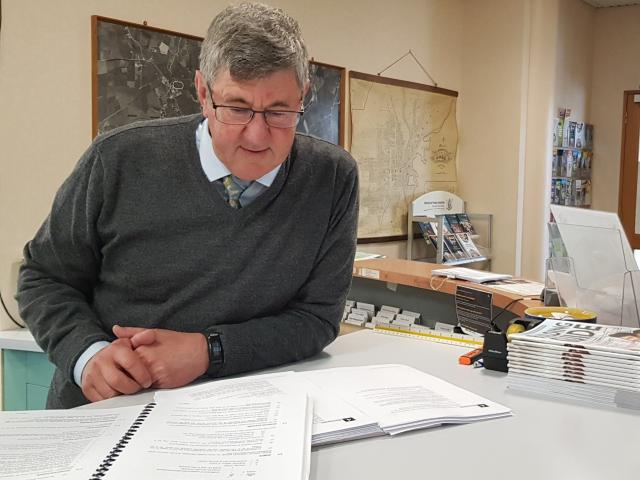 Gore District Council planning consultant Keith Hovell looks over the existing and proposed new...
