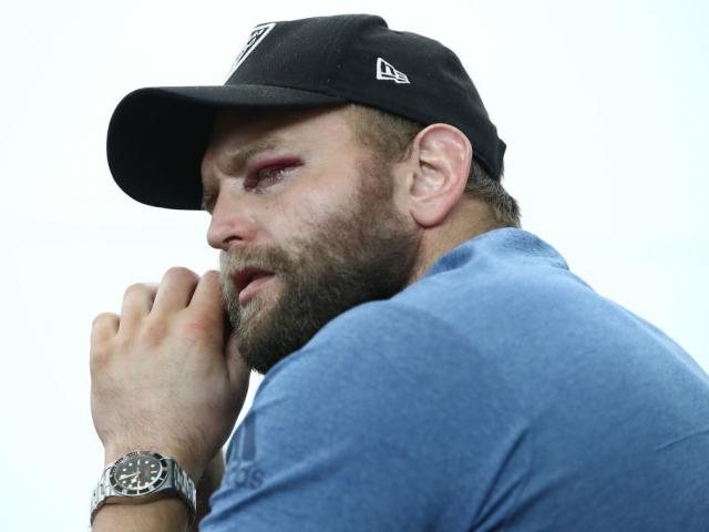 Joe Moody will miss the rest of the season after a freak training injury to his eye. Photo: Getty...