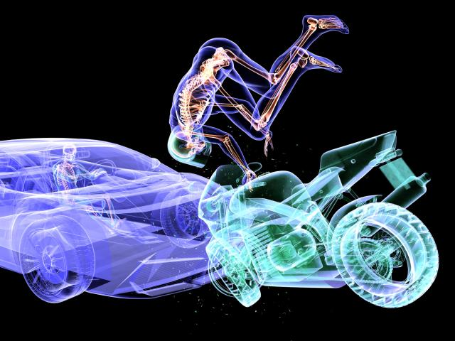 Motorcycle accident research for insurance. Photo: Getty Images