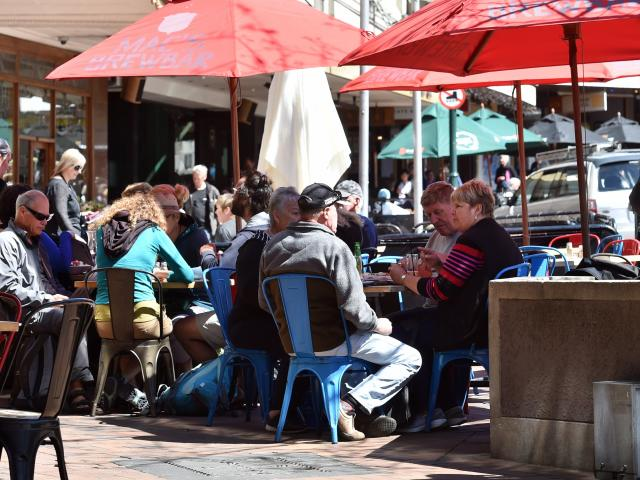 Dunedin's Octagon was full of diners when two cruise ships visited on the same day last month....