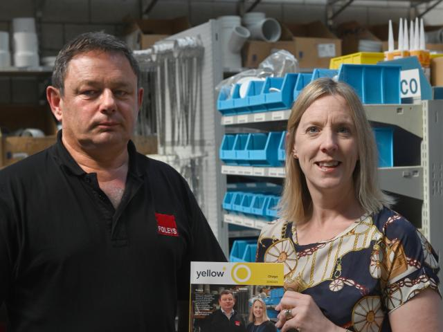 Foleys Dunedin director Craig Foley and marketing manager Tracy Pleasants show off the new Otago...
