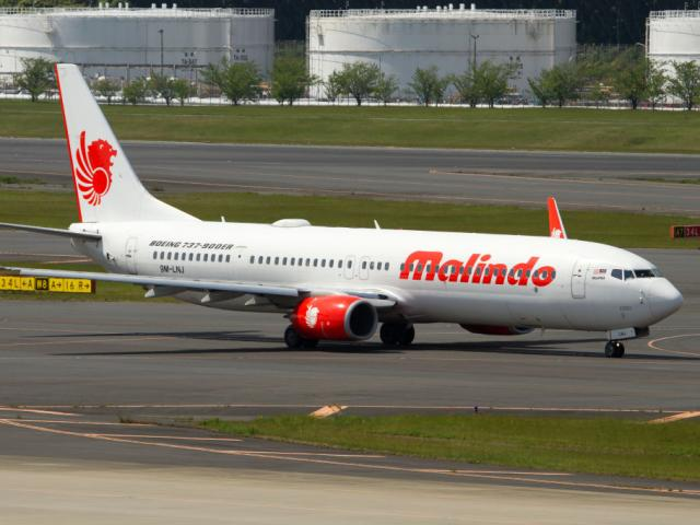 MalindoAir Boeing 737-900ER taxiing at Tokyo Narita airport (2017). Photo: Getty Images