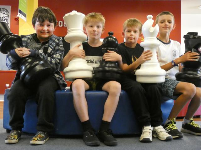 Pupils from Enrich@ILT (from left) Konner Love (10), Cohen Booth (9), Ciaran Crombie (10) and Ben...