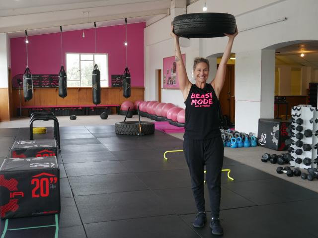 Mel Kirk, of M.K. Fitness, in her studio at Wingatui Racecourse. Photo: Jessica Wilson