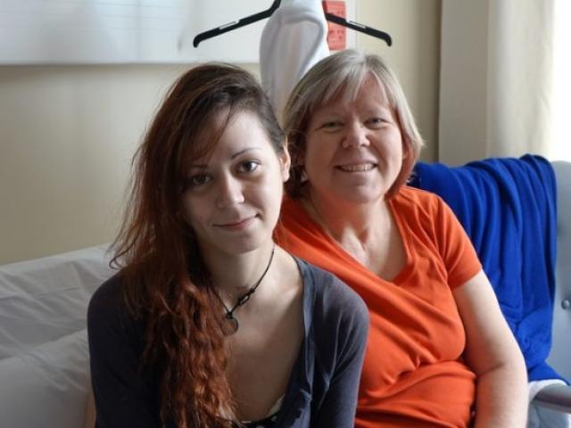 Renee Whitehouse with her mum Jackie. Photo: RNZ