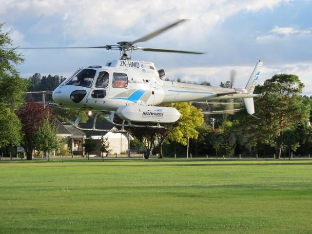 A search and rescue helicopter departed Alexandra for the scene this morning. Photo: Yvonne O'Hara