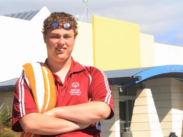 Special Olympics North Otago swimmer Liam Bartley, of Maheno, is off to the United Arab Emirates...