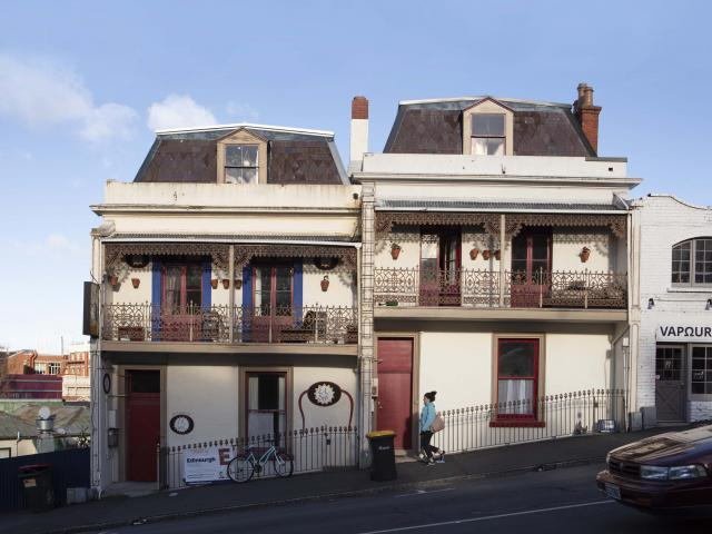 The terrace houses at 16-18 London St known as Skid Row. Photos: Guy Frederick Photography/NZ...