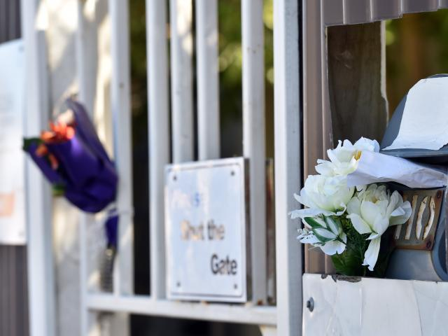Flowers outside the An-Nur Early Childhood Education and Care Centre Dunedin, which was closed...