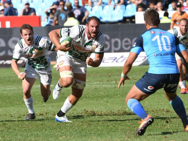 Tyler Ardron of the Chiefs during the Super Rugby match between Vodacom Bulls and Chiefs at...