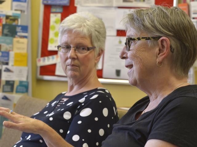 Carers' Society Otago community worker Jackie Stewart and manager Susan Easterbrook. PHOTO:...