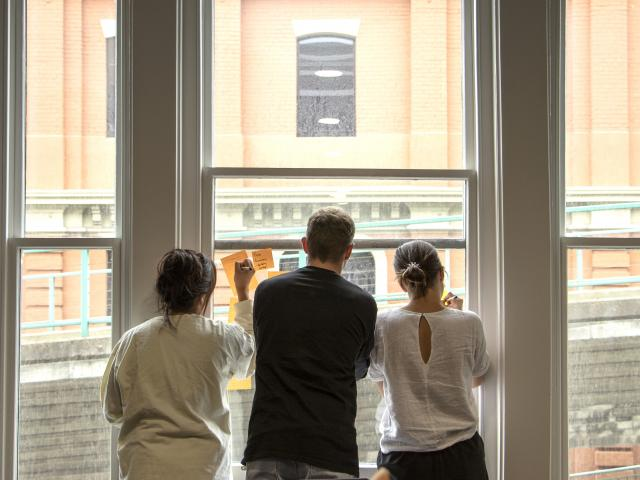 Participants in The Social Experiment accelerator programme express their thoughts in Dunedin...