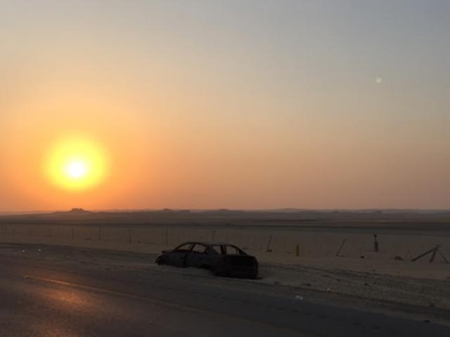 An abandoned car in the desert. Photo: Deborah Heron