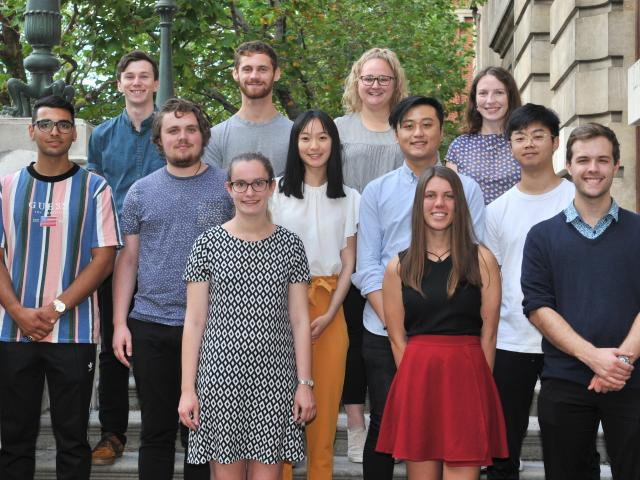 University of Otago bachelor of medical science honours students (from left, front row) Hannah...