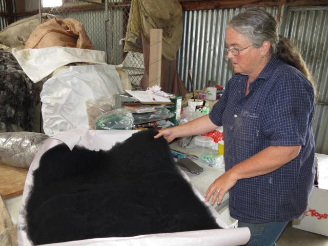 Barb Peel runs a fleece dyeing and carding business on the family farm near Raes Junction. Photo:...