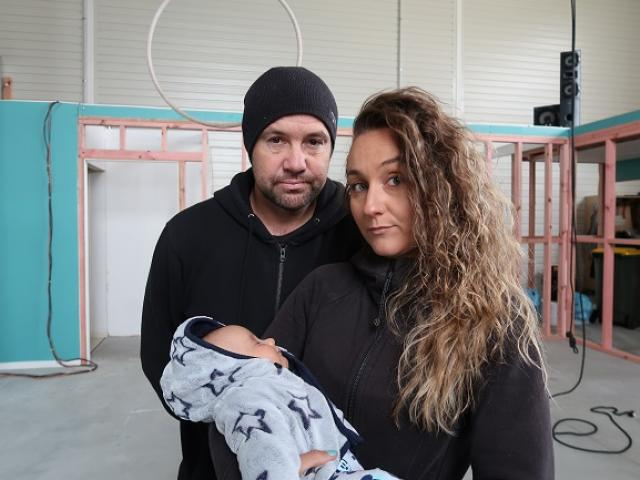 Gravity owners Mike and Sarah Jane Harford, with their 10-week-old boy Phoenix Fynn, closed shop...