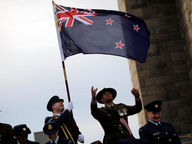 New Zealand's soldiers attend an international service marking the 104th anniversary of the WWI...